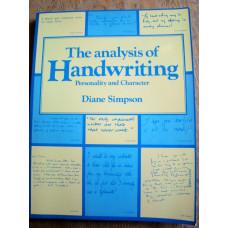 The Analysis of Handwriting